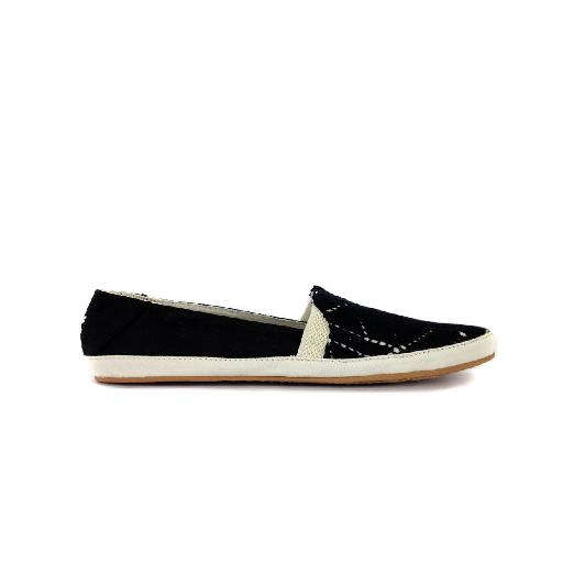 Kids shoe online Reef loafer Casual black and while slip-on