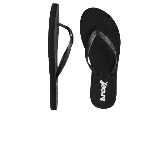 Reef slippers Black flip flop with sparkly black straps