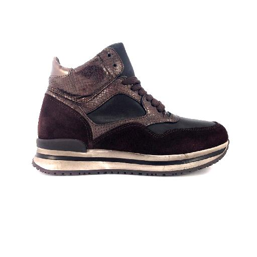 Kids shoe online HIP trainer High brown sneaker