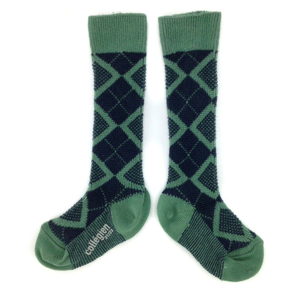 Collegien - Long socks green/black