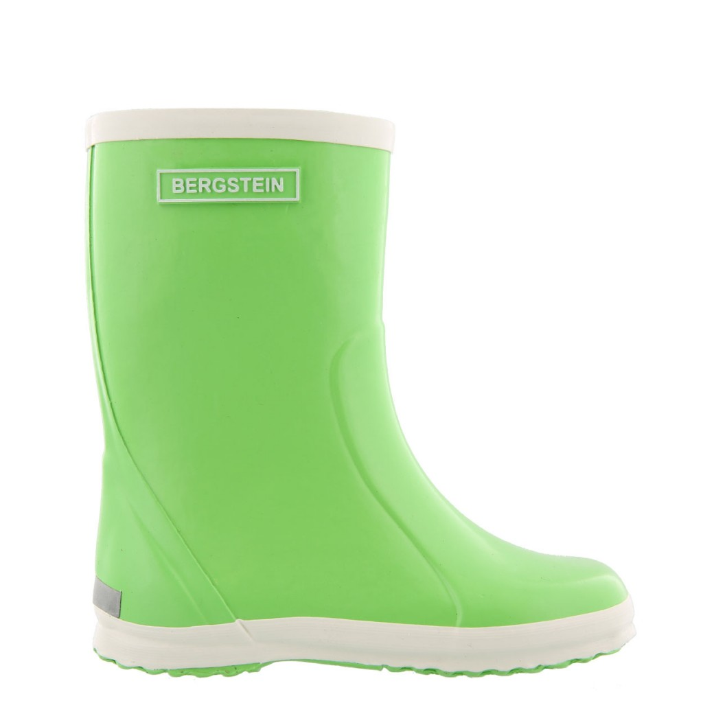 Bergstein - Lime green wellington boot