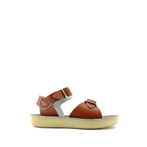 Kinderschoen online Salt water sandal sandaal Salt-Water Surfer sandaal in cognac