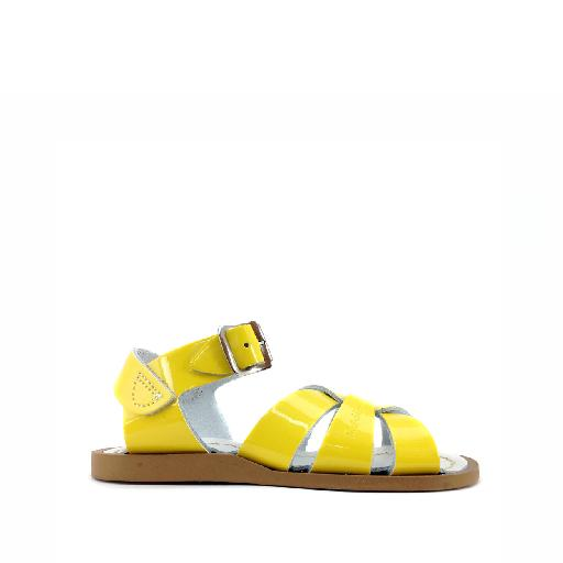 Kinderschoen online Salt water sandal sandaal Salt-Water Original Premium in lak geel