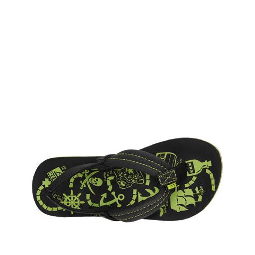 Kinderschoen online Reef teenslipper Teenslipper met groene prints