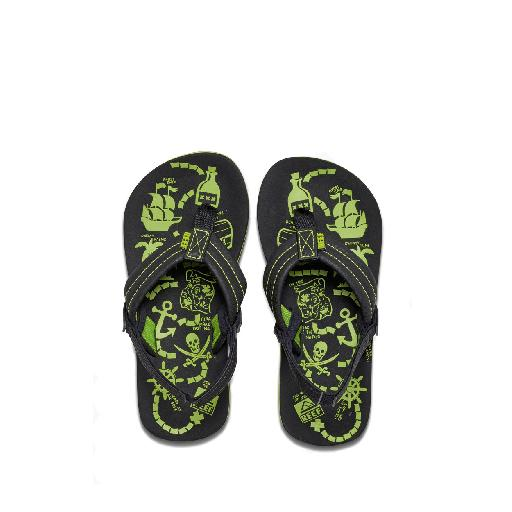 Reef teenslipper Teenslipper met groene prints