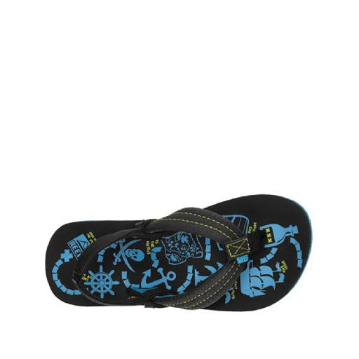 Kinderschoen online Reef teenslipper Teenslipper met blauwe prints