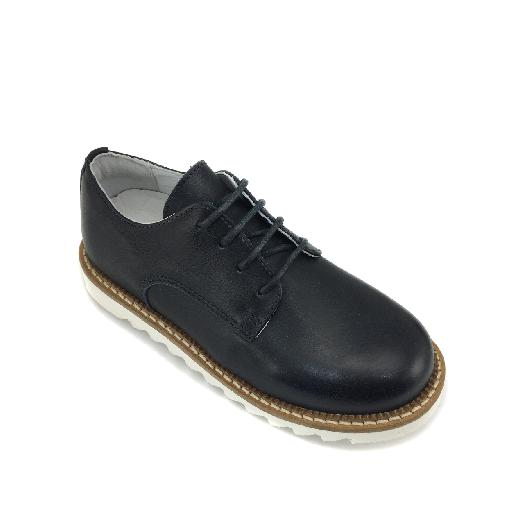HIP lace-up shoes Darkblue derby with white sole