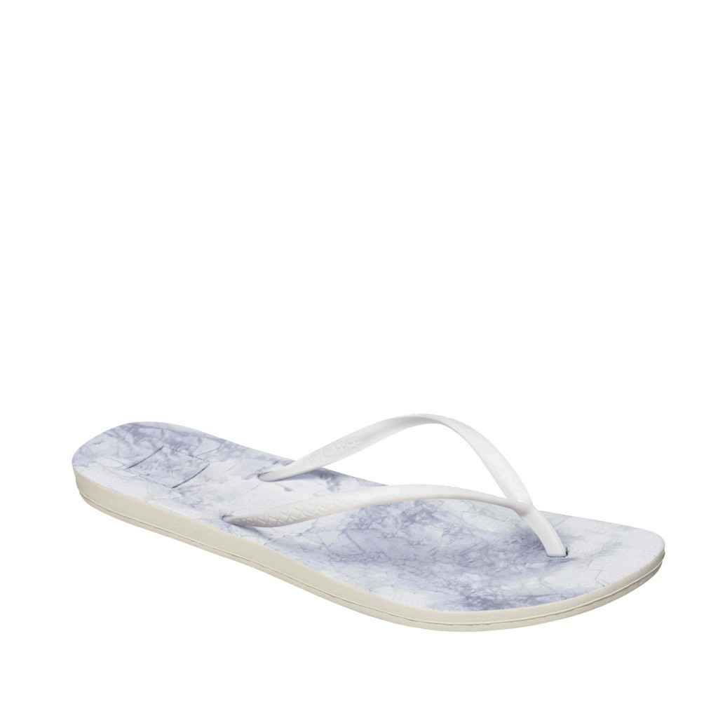 Reef - Gray flip flops with marble print