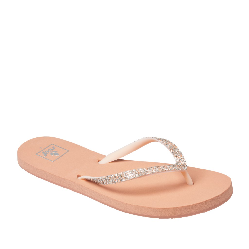 Reef - Nude flip flops with glitter
