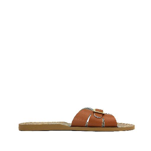 Kinderschoen online Salt water sandal sandaal Salt-Water Classic Slides in bruin