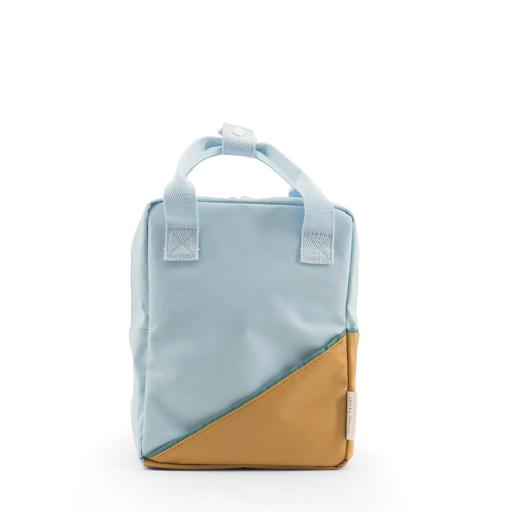 Kids shoe online Sticky Lemon schoolbag Backpack in light blue and caramel