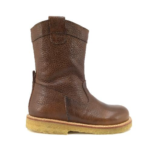 Kids shoe online Angulus boot Half high boot in dark brown