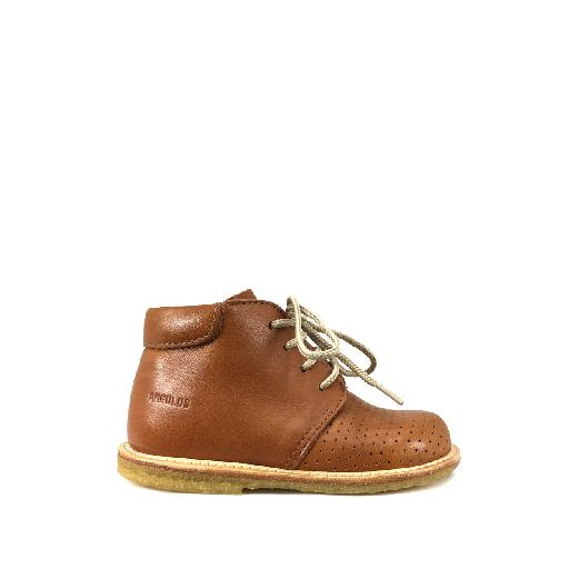 Kids shoe online Angulus first walker First steps in cognac