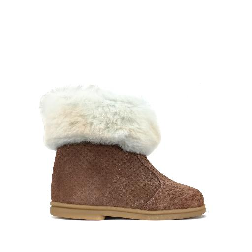 Kids shoe online Eli short boots Short boot in pink with sheep wool
