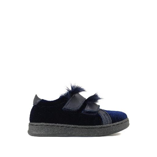 Kids shoe online BiKey trainer Sneaker in blue velvet