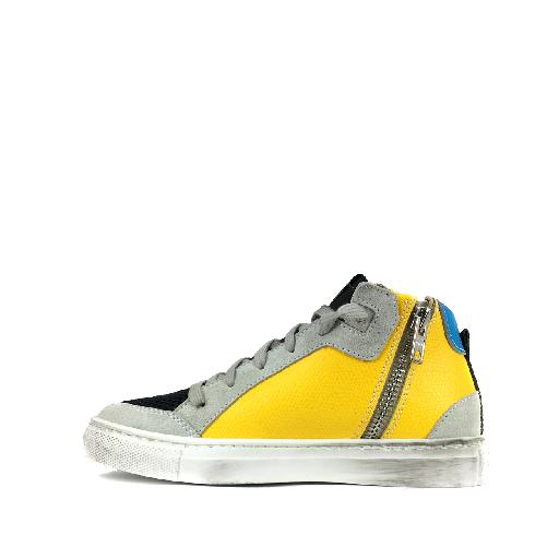 P448 trainer Sneaker in brown and yellow