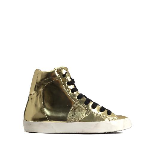 Kids shoe online Philippe Model trainer High golden sneaker