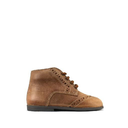 Kids shoe online Two Con Me by Pepe first walkers Classic first walker in nuanced brown