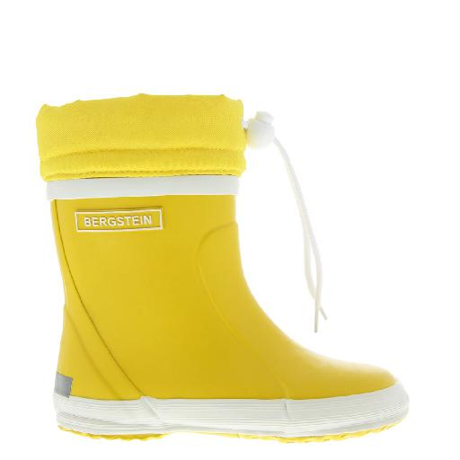 Kids shoe online Bergstein wellington boot Yellow winter wellington boot with wool