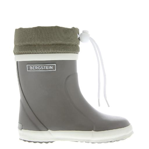 Kids shoe online Bergstein wellington boot Taupe winter wellington boot with wool