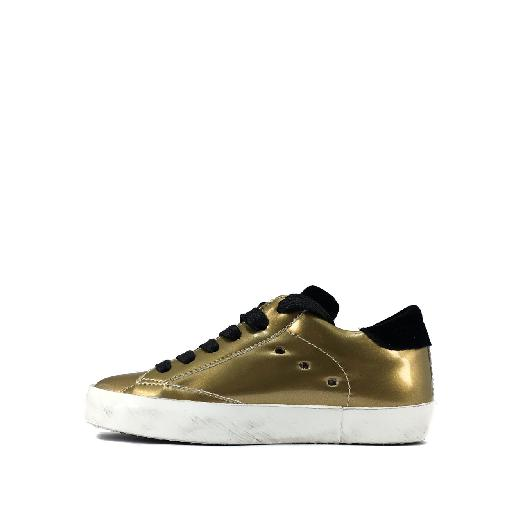 Philippe Model trainer Low gold sneaker with black accents
