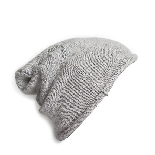 Kids shoe online Collegien hats Light grey wool beanie - Gris Clair