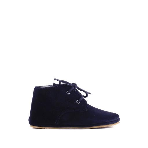 Kids shoe online Pinocchio pre step shoe Prewalker suede dark blue