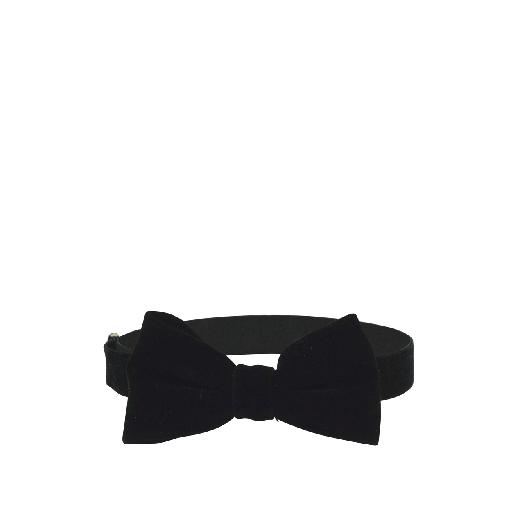Kids shoe online Milk & Soda bow Velvet bow tie black
