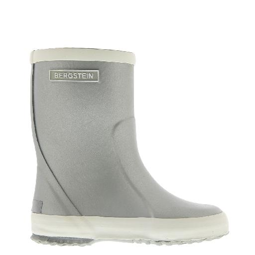 Kids shoe online Bergstein wellington boot Glam Silver wellington boot limited edition