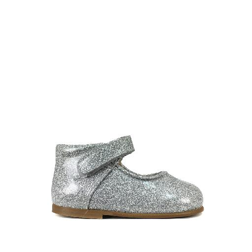 Kids shoe online Eli mary jane Small silver Mary jane in patent glitter