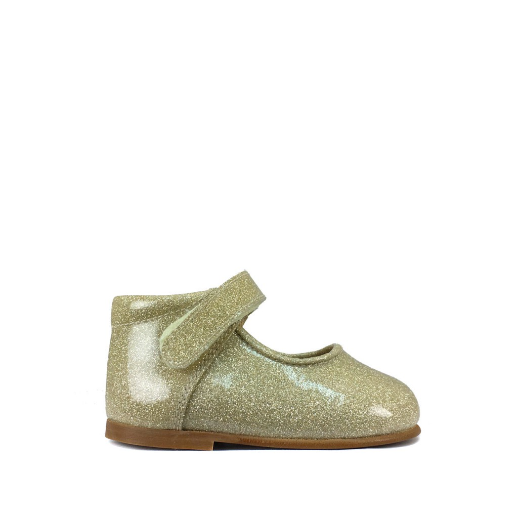 Eli - Small golden Mary jane in patent glitter