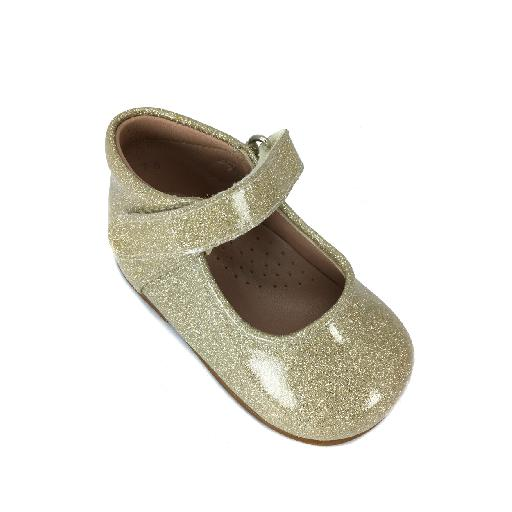 Eli mary jane Small golden Mary jane in patent glitter