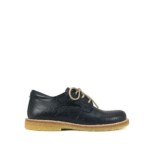 Kids shoe online Angulus lace-up shoes Dark blue perforated lace shoe