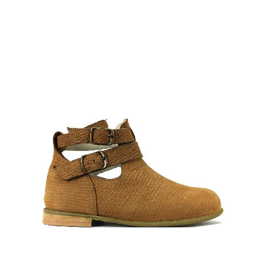 Kids shoe online Pèpè short boots Short boot in light brown with buckles