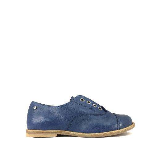 Kids shoe online Manuela de juan lace-up shoe Derby in blue without laces