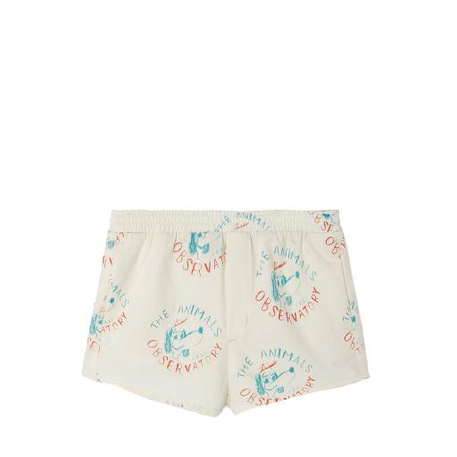 Kids shoe online The Animals Observatory swimming pants White swim shorts with dogprint