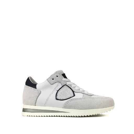 Kids shoe online HIP trainer White runner in leather and suede