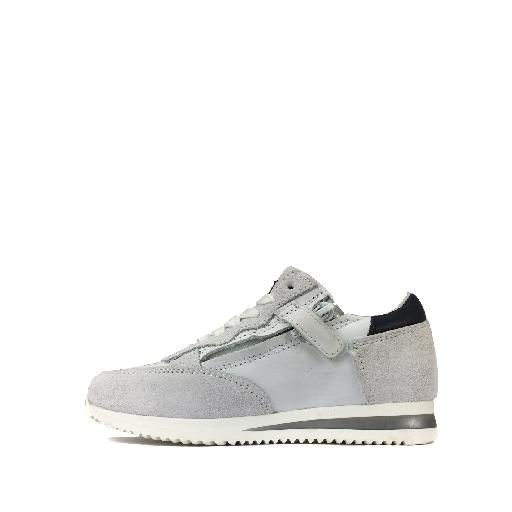 HIP trainer White runner in leather and suede