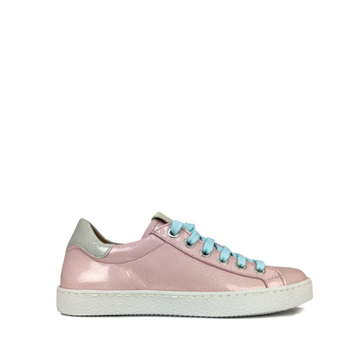 Kids shoe online MAA trainer Pink low pink sneaker in patent leather