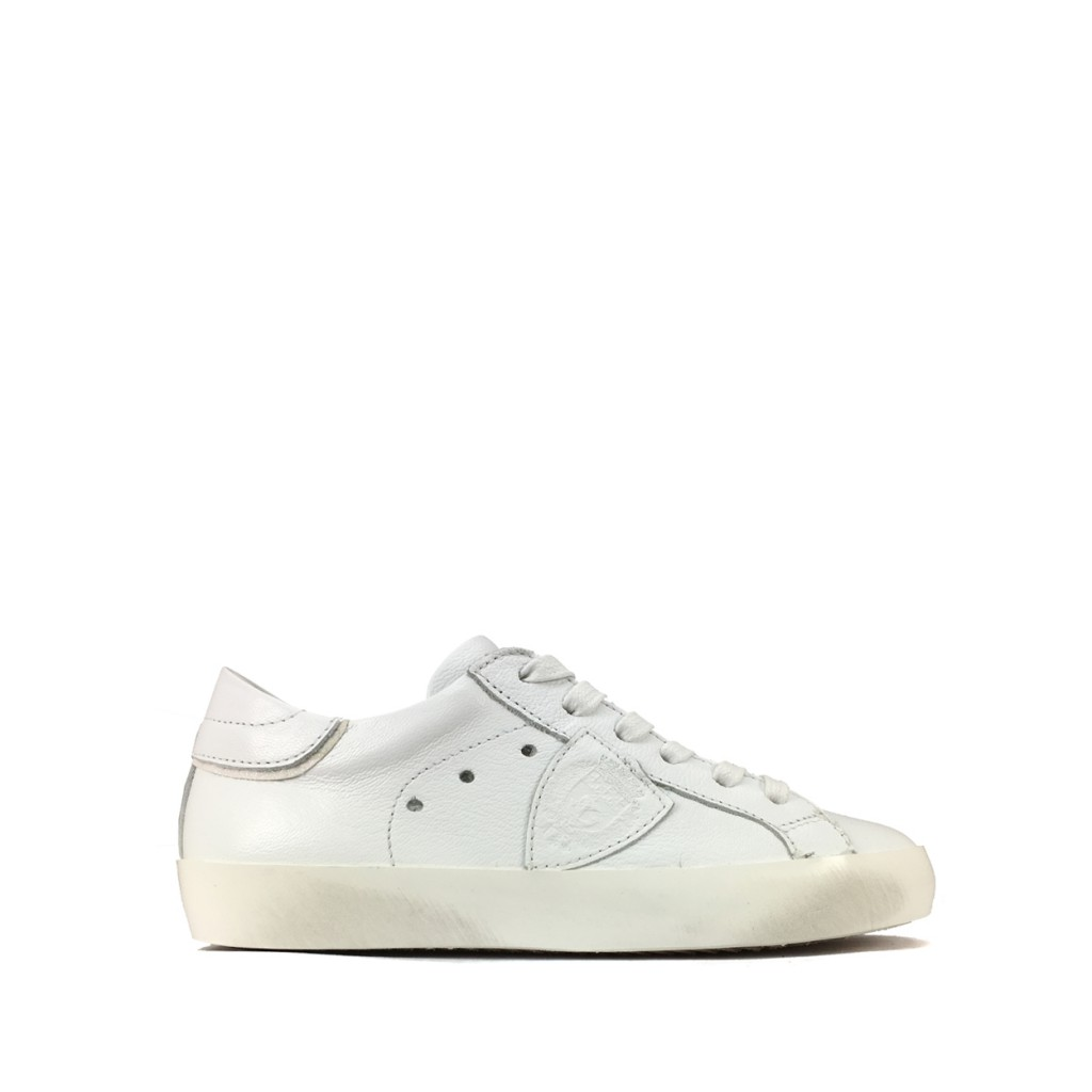7c682dfc8600b Philippe Model - Low metallic white sneaker