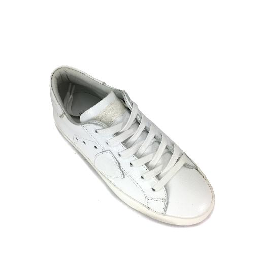 Philippe Model trainer Low metallic white sneaker