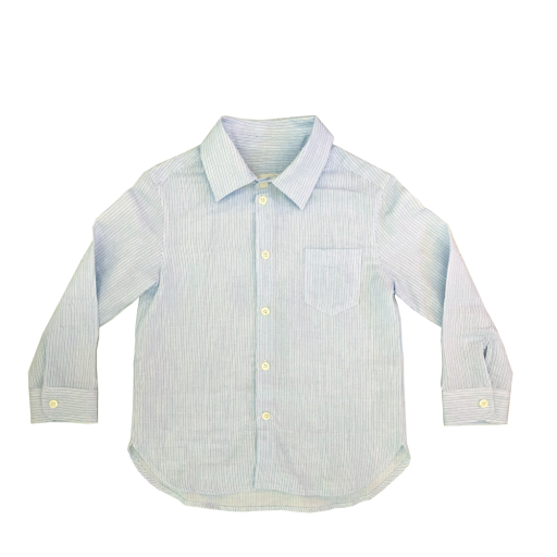 Kids shoe online Maan Shirts Finely striped cotton shirt in bue and white