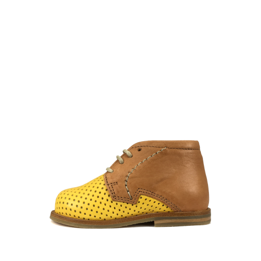 Nathalie Verlinden first walker First stepper in cognac and ochre