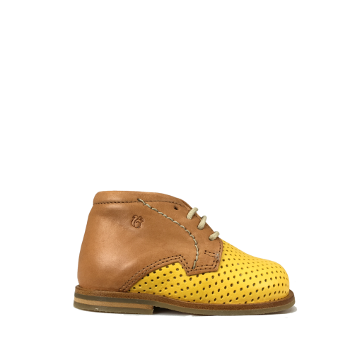 Kids shoe online Nathalie Verlinden first walkers First stepper in cognac and ochre