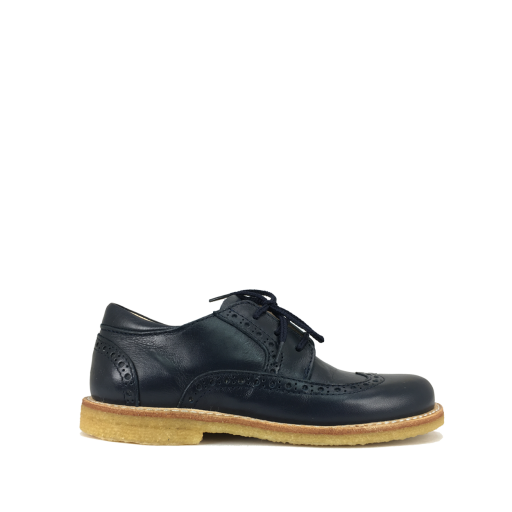 Kids shoe online Angulus lace-up shoes Lace shoe in dark blue with brogues