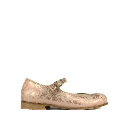 Kids shoe online Pèpè mary jane Pink ballerina with flower print