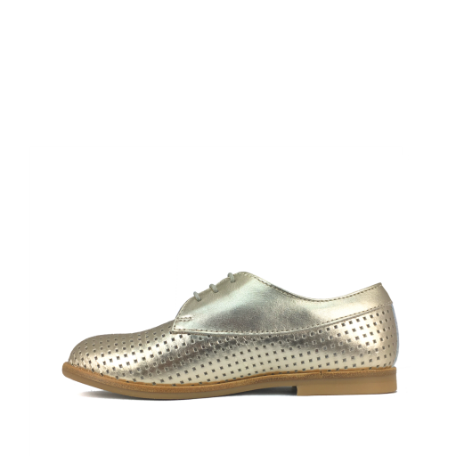 Ocra by Pops lace-up shoes Golden metallic perforated derby