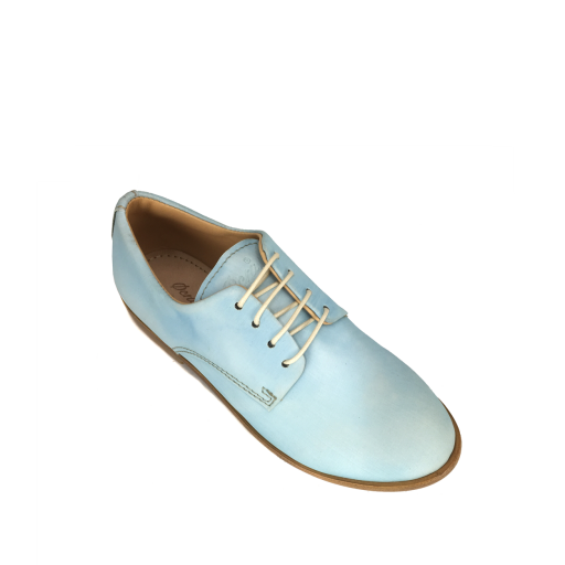 Ocra by Pops lace-up shoes Derby in reflective soft blue