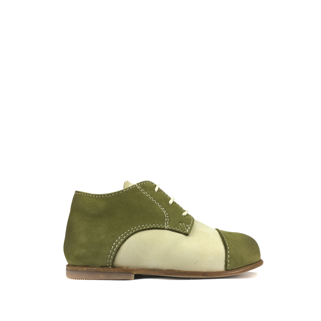 Ocra by Pops - First stepper in beige and green