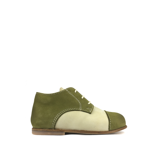 Ocra by Pops first walker First stepper in beige and green